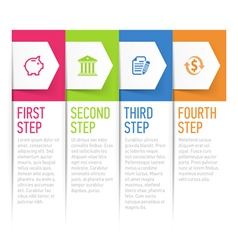Sequential text boxes design element vector image vector image