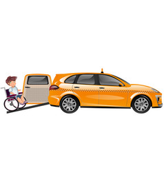 taxi designed for transportation of persons with vector image vector image