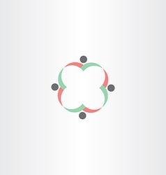 teamwork concept people business symbol vector image