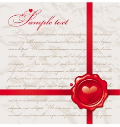 vintage Valentine's design vector image vector image