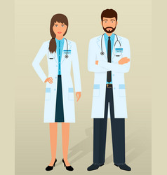 doctors staff medical personal in different vector image vector image