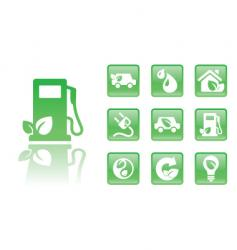 green icons gas vector image