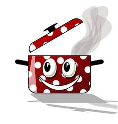 happy cooking cartoon vector image