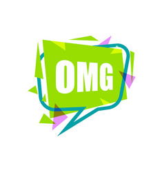 omg speech bubble with expression text vector image