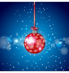 Red Sparkling Christmas Ball vector image