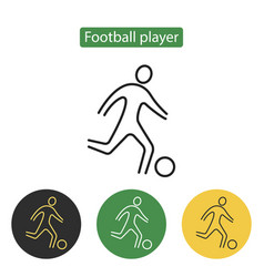 soccer player icon line vector image
