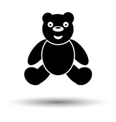 Teddy bear ico vector