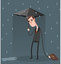 Unlucky Businessman vector image vector image