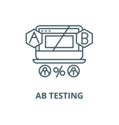 Ab testing line icon outline concept vector