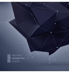 Abstract geometric shape triangular Crystal vector image