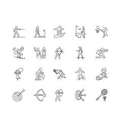 agility line icons signs set outline vector image