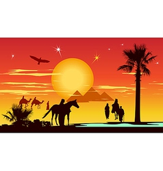 Arabian Travelers vector image