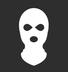 Balaclava or ski mask - symbol terrorism vector