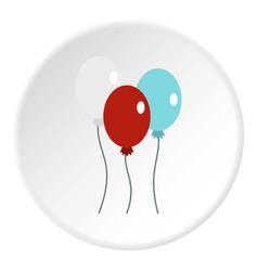 Balloons icon circle vector