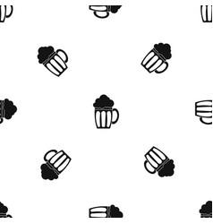beer pattern seamless black vector image