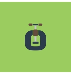 Bench vices flat icon vector image