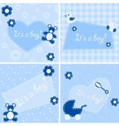 Birth announcement cards vector