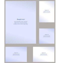 Blue page corner design template set vector