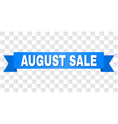 Blue tape with august sale text vector