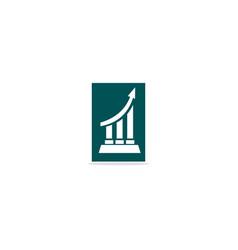 Business graph growth arrow logo vector