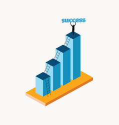 business process to success isometric vector image