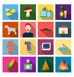business production ecology and other web icon vector image