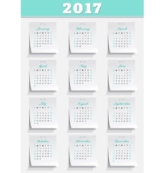 Calendar grid vector