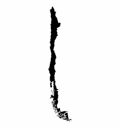 Chile map dark silhouette vector