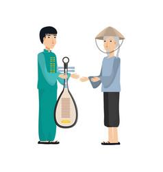 Chinese men avatar character vector