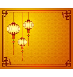 Chinese template 6 vector image