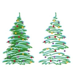 Christmas tree with decorations vector