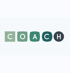 coach letters vector image