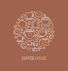 Coffee house logo concept vector