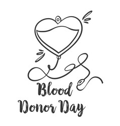 Collection stock blood donor day hand draw vector