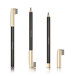 Cosmetic black pencil eye pencil with vector