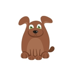 Cute dog with brown hair vector