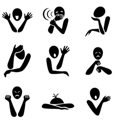 Different emotion icons vector