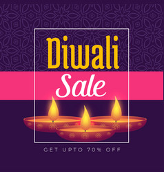 diwali festival offer poster template design with vector image
