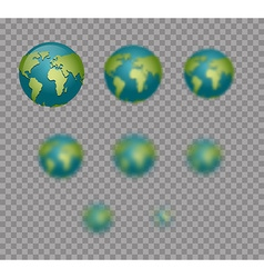 Earth planet earth isolated earth set with varying vector
