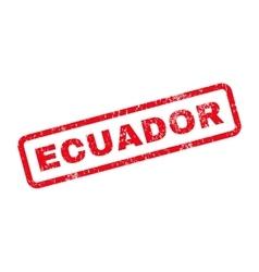 Ecuador text rubber stamp vector