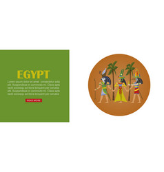 egypt travel banner architecture design culture vector image