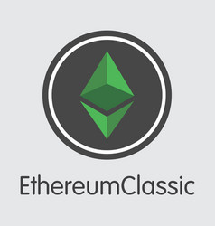 Ethereum classic - colored logo vector