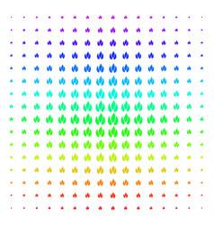 Fire shape halftone spectrum grid vector