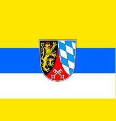 Flag of upper palatinate in bavaria germany vector