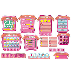 Game gui 10 vector