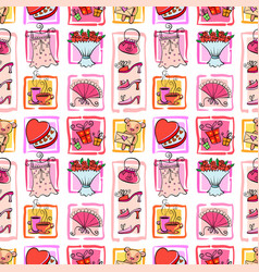gifts for girl seamless background vector image