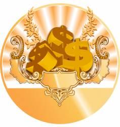 golden dollar icon vector image