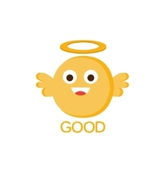 Good Yellow Angel Word And Corresponding vector