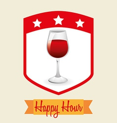 Happy hour design vector