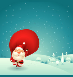 happy santa claus is coming to town vector image
